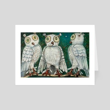 three owls - Art Card by Kristian Leov