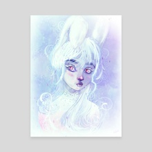 White Rabbit - Canvas by Gion
