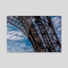 Paris - Eiffel Tower - Acrylic by Valérie KARAKATSANIS