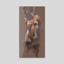 nude - Acrylic by Derek Jones