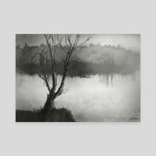 Melancholic landscape. - Canvas by Lubov Soltan