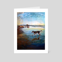 Beach Dog - Art Card by birds