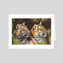 Tiger Cubs - Art Card by Richard Macwee