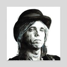 Tom Petty - Canvas by Tim Alblas