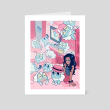 Froakie Room - Art Card by Nymria