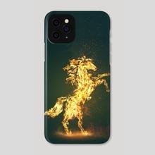Flaming Stallion - Phone Case by Gerro