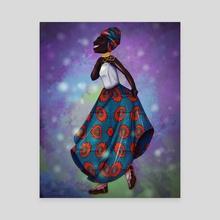 Smiling Woman - Canvas by Trinity Shubin