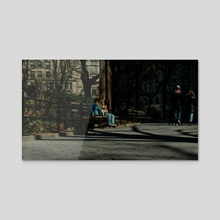 Americans (Greater New York), candid, midtown, #105, 3-2020 - Acrylic by Vlad Meytin