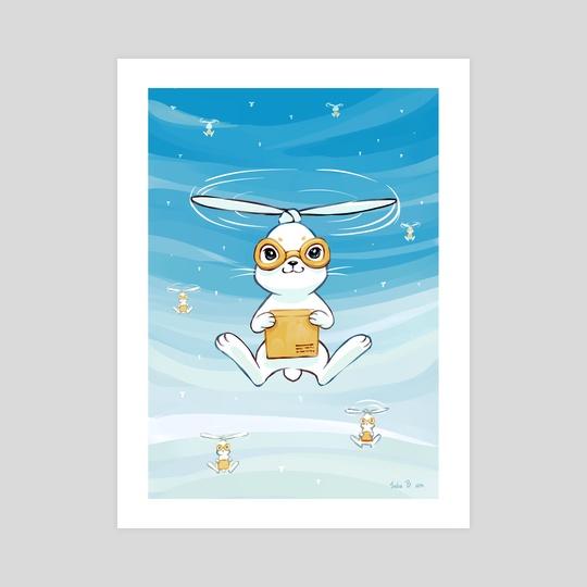 Postal Bunny by Indré Bankauskaité