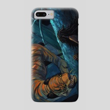 Meeting the tiger - Phone Case by Saint Vagrant