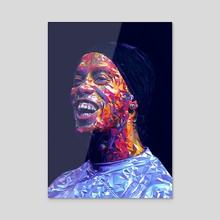 Ronaldinho Illustration  - Acrylic by Visuals Artwork