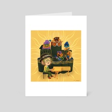 goodbye yellow brick road (muppets) - Art Card by sj ham