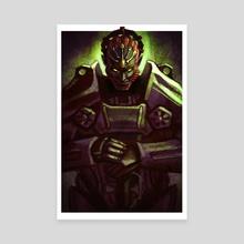 Power Armor Ganondorf - Canvas by Andrew Tran
