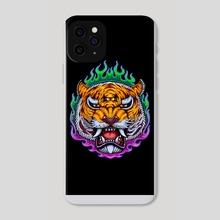 Third Eye Tiger - Phone Case by sarod mahakiattikhun