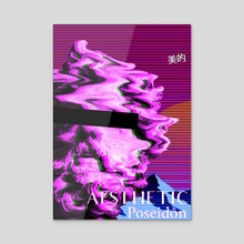 Vaporwave Poseidon - Acrylic by Alessio Mollo