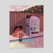 Vending Machine - Canvas by Dreachie
