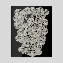 Daruma's Power - Acrylic by Chiquiwawi