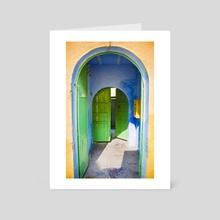 Indian Haveli Doors - Art Card by Avi Kabir