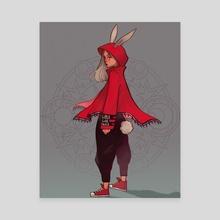 Little Red Riding Hood - Canvas by Sandra Moya