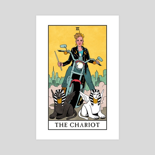 The Chariot - Modern Witch Tarot by Lisa Sterle