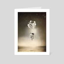Space collection : The Astronaut - Art Card by Julien KALTNECKER