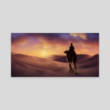 Desert Sunset - Canvas by Louhi