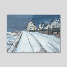 It's snowing today - Acrylic by M. Broca