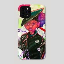 Black Kitty Party - Phone Case by Christian Alexander