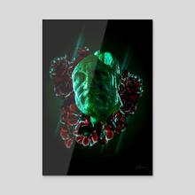 Flowers and Jade - Acrylic by Hubert Pelerin