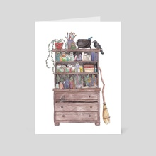 The Kitchen Witch - Art Card by Bee Allanson