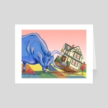 Wall Street Upending the Housing Market - Art Card by Michelle Kondrich