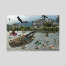 Boulder Bay - Canvas by John Clark Matthews