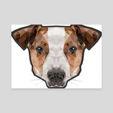 Jack Russell poly - Canvas by Genevieve Blais