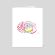Hippocampus - Art Card by Kat Powell