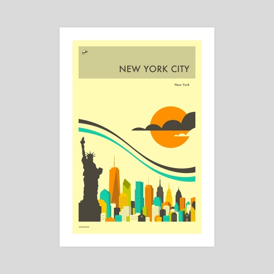 NEW YORK TRAVEL POSTER by Jazzberry Blue