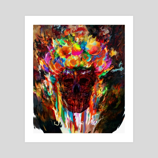 colorful skull by Maxim G