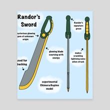 Randor's Sword - Canvas by Kristen Hartbarger