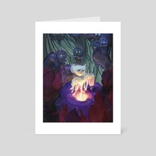 (8x10in print) (12x15in print) Shadow's Light: Burial Scene - Art Card by Jacob Mobley