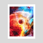 Red Planet Abstract - Art Print by Anup Tribhuvan