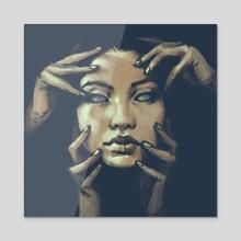 haunted hands - Acrylic by Zara Jumabai
