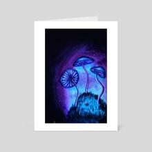 Mushroom Night - Art Card by Noes Art