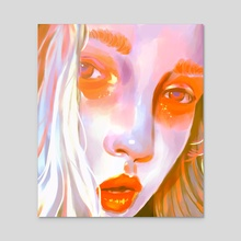 Portrait - Acrylic by Miokie
