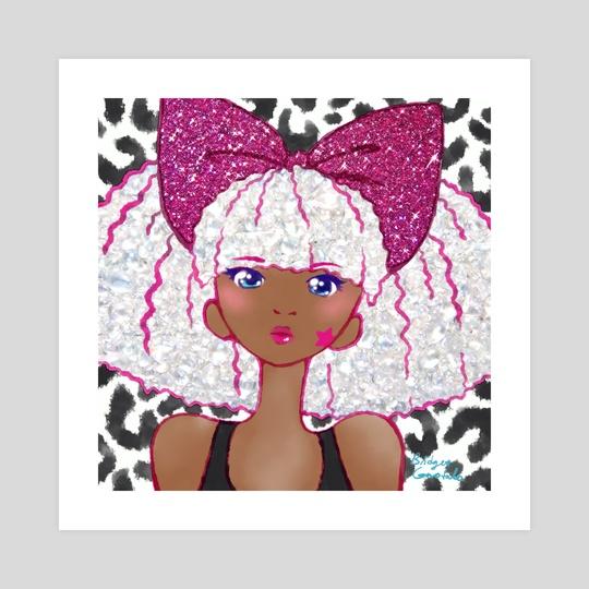 Cute Kawaii Glitter Diva L.O.L. Surprise Doll Anime Fan Art by Bridget Garofalo