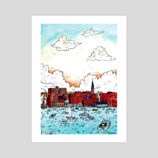 Harbor by Gouache & Ink