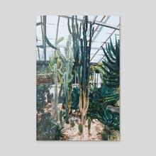 Allan Gardens under rain - Acrylic by James Lee Chiahan