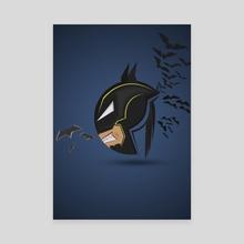 Round Batman  - Canvas by ATLANT99
