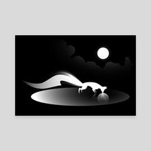 Kitsune I - Canvas by Alex Grund