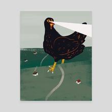 Super Chicken - Canvas by Francesca Mason