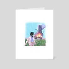 WhEre Is My CaR - Art Card by damage label
