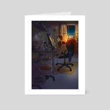 All Nighter - Art Card by Yaoyao Ma Van As